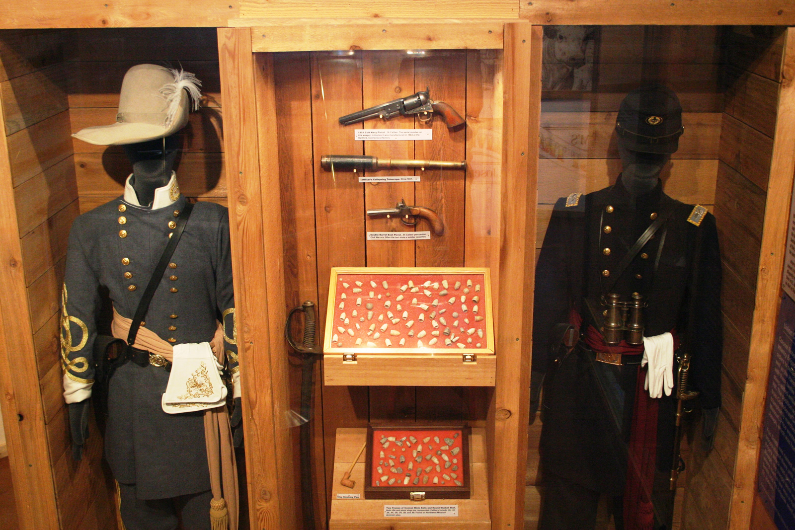 Civil War Uniforms in museum